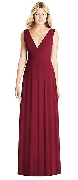 Sleeveless Deep V-Neck Open-Back Dress