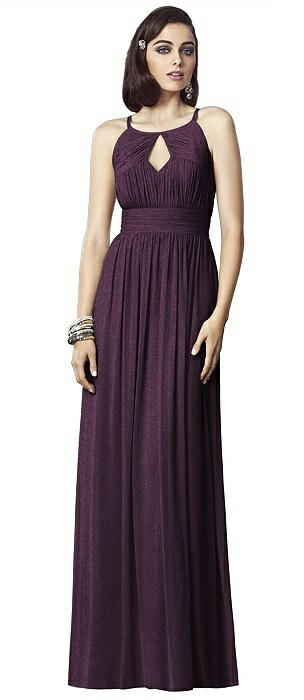 Dessy Shimmer Bridesmaid Dress 2906LS On Sale