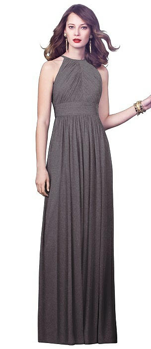 Dessy Shimmer Bridesmaid Dress 2918LS On Sale