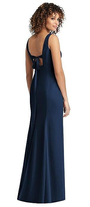 Sleeveless Tie Back Chiffon Trumpet Gown
