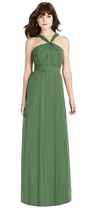 Twist Halter Chiffon Maxi Dress - James
