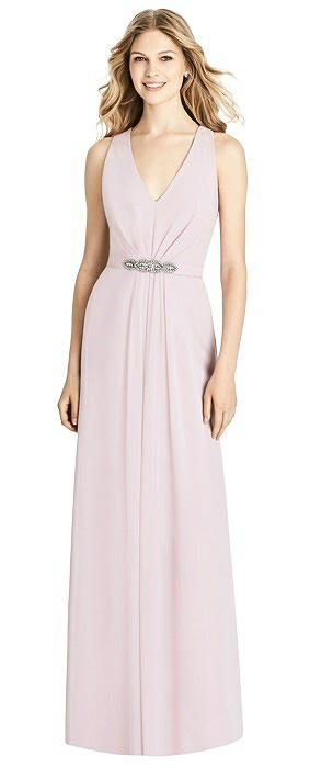 Sleeveless Jeweled Belt Twist Strap Dress