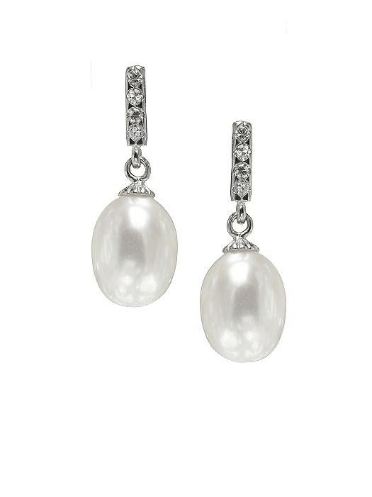 Pearl Deco Drop Earrings