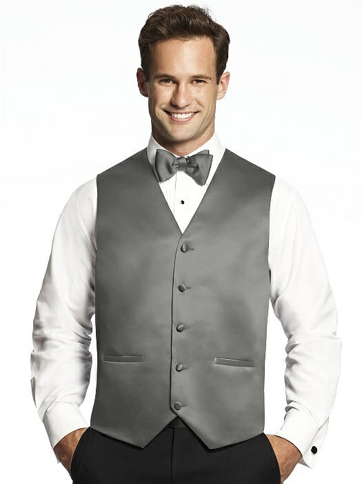 Matte Satin Tuxedo Vests by After Six