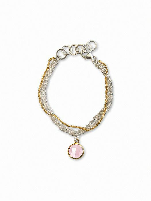 Sterling and Gold Plate Bella Bracelet