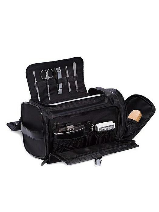 Black Leather & Nylon Tote Bag