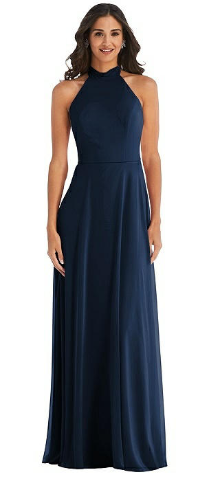 High Neck Halter Backless Maxi Dress