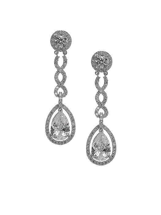 Pear Shaped CZ Estate Earrings