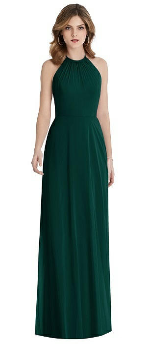Cutout Tie Back Halter Maxi Dress