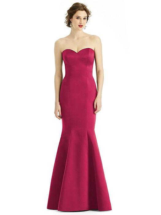 Sweetheart Strapless Satin Mermaid Dress