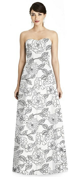 Floral Seamed Bodice A-Line Dress with Pockets