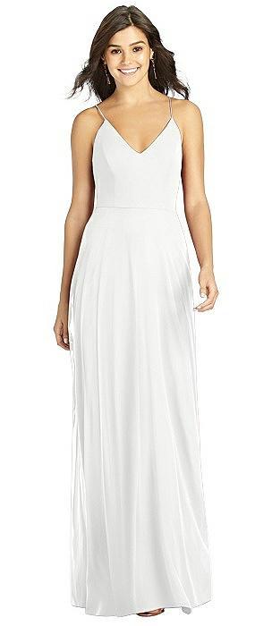 Criss Cross Back A-Line Maxi Dress