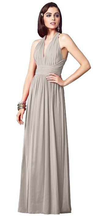 Ruched Halter Open-Back Maxi Dress - Jada