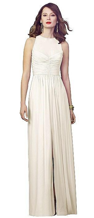 Illusion Bodice Chiffon Maxi Dress On Sale