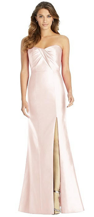 Strapless Draped Bodice Trumpet Gown