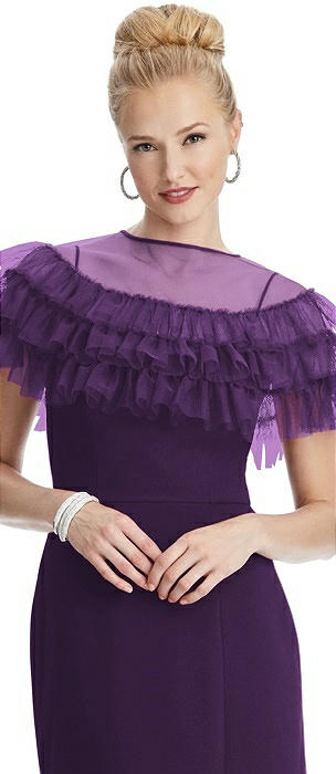Tiered Ruffle Tulle Capelet
