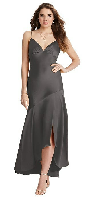 Asymmetrical Drop Waist High-Low Slip Dress - Devon