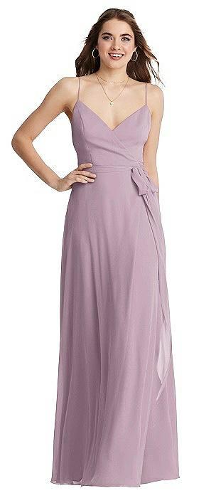 Chiffon Maxi Wrap Dress with Sash - Cora