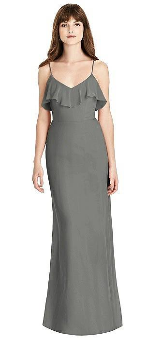 Ruffle-Trimmed Backless Maxi Dress - Britt