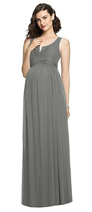 Sleeveless Notch Maternity Dress