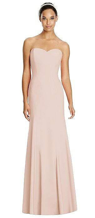 Sweetheart Strapless Flared Skirt Maxi Dress