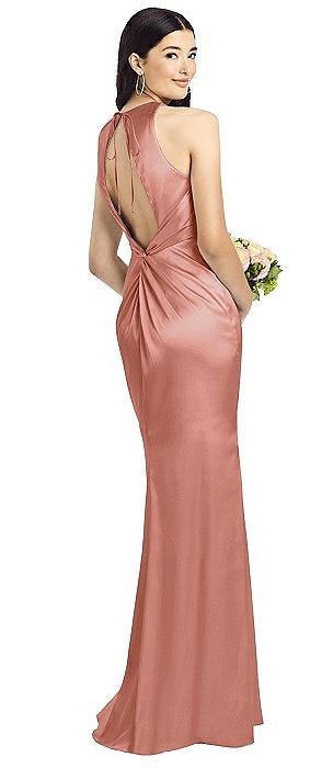Sleeveless Open Twist-Back Maxi Dress