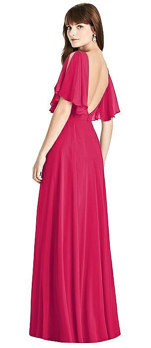 Split Sleeve Backless Maxi Dress - Lila