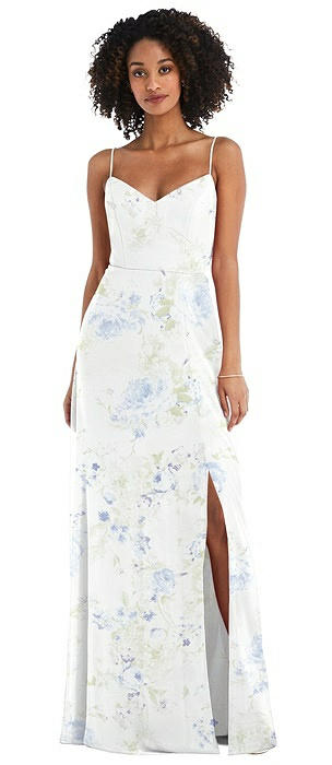 Tie-Back Cutout Maxi Dress with Front Slit