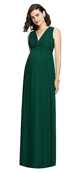 Sleeveless Shirred Skirt Maternity Dress On Sale