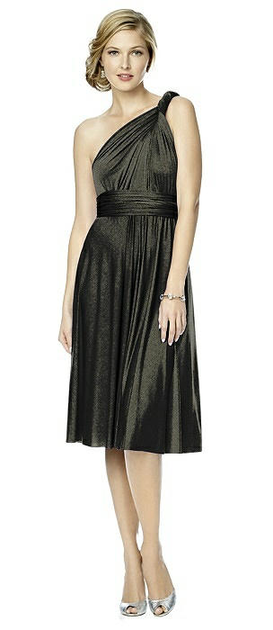 Shimmer Jersey Short Twist Dress