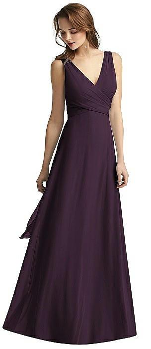 Sleeveless V-Neck Chiffon Wrap Dress