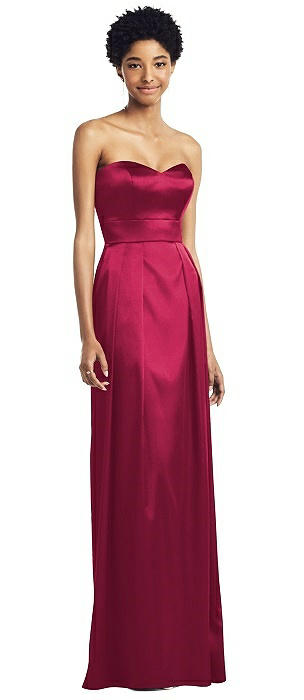 Sweetheart Strapless Pleated Skirt Dress with Pockets