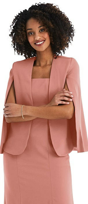 Open-Front Split Sleeve Cape Jacket