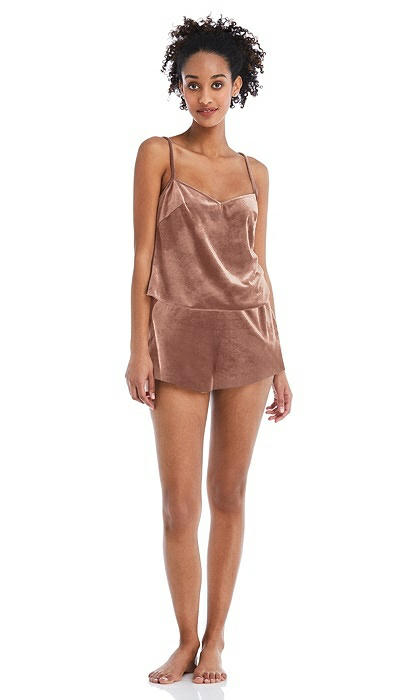Velvet Lounge Shorts with Pockets - Tessa