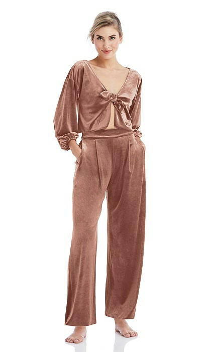 Velvet Ankle Wide-Leg Lounge Pants - Billie