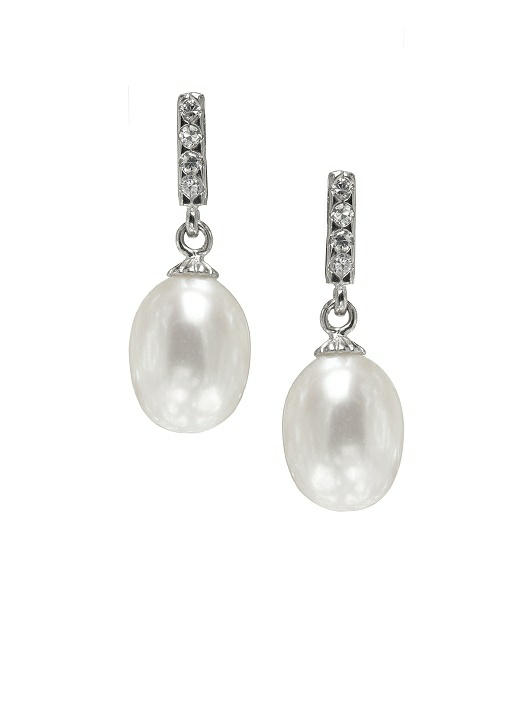 Pearl Deco Drop Earrings