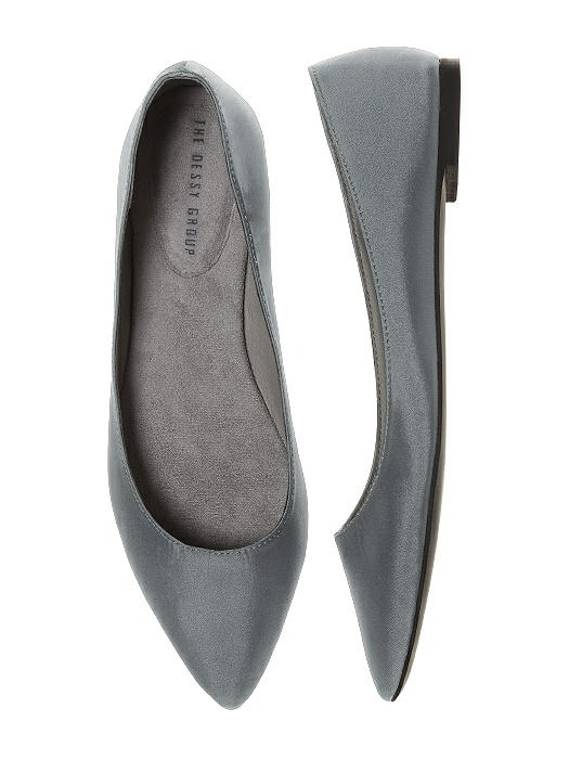 Chelsea Satin Ballet Wedding Flats