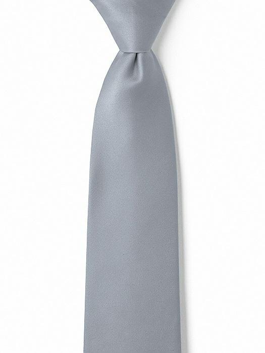 """Matte Satin Boy's 14"""" Zip Necktie by After Six"""