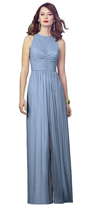 Illusion Bodice Chiffon Maxi Dress On Sale
