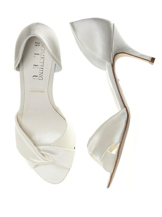 Pluto Satin Wrap Peep Toe Bridal Pump On Sale