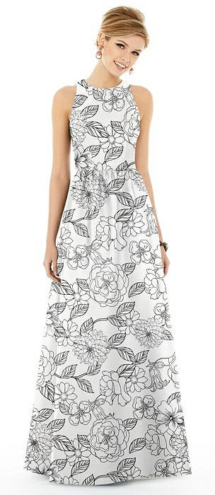 Floral Sleeveless Maxi Dress with Pockets