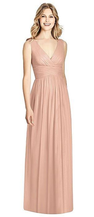 Sleeveless Criss Cross Shirred Maxi Dress
