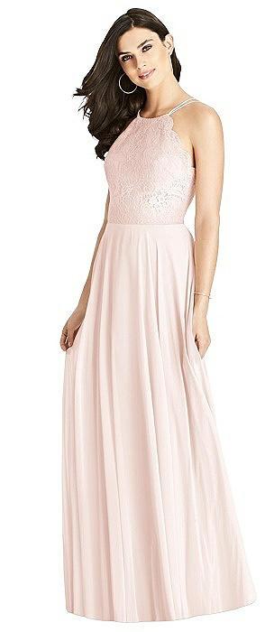 Lace Bodice Halter Maxi Dress