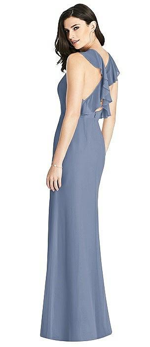 Criss Cross Ruffled Strap Halter Dress