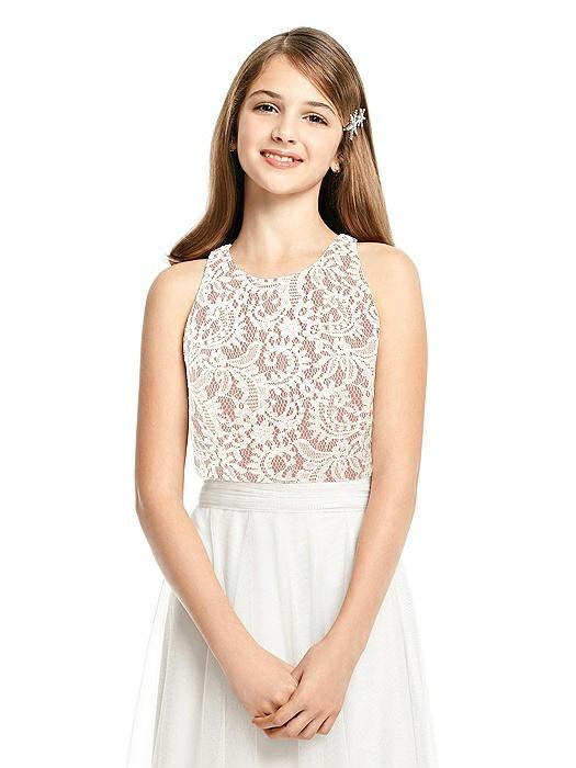 Junior Sleeveless Lace Top