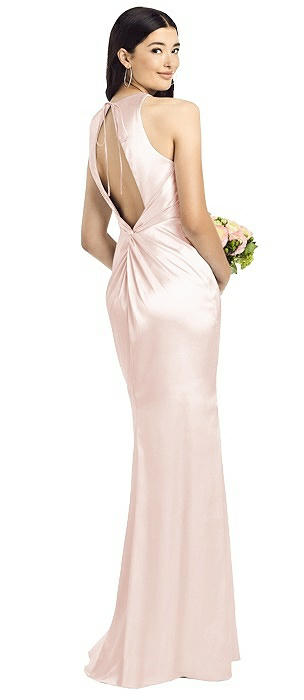 Sleeveless Open Twist-Back Maxi Dress