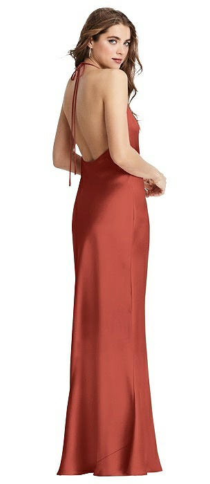 Cowl-Neck Convertible Maxi Slip Dress - Reese