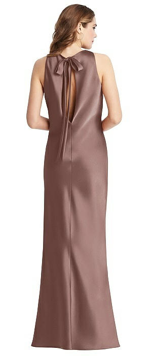 Tie Neck Low Back Maxi Tank Dress - Marin