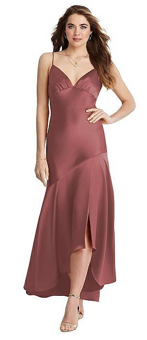Asymmetrical Drop Waist High-Low Slip Dress - Devon