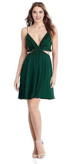 Ruffled Chiffon Cutout Mini Dress - Joey